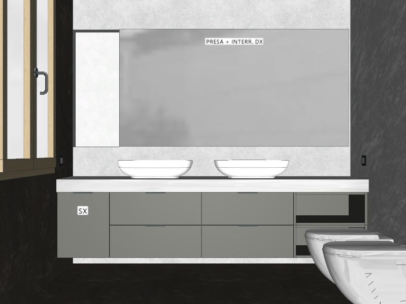 Mobile Bagno 2 Lavabi | Mobile Lavabo Bagno Ad Angolo Con 2 Ante