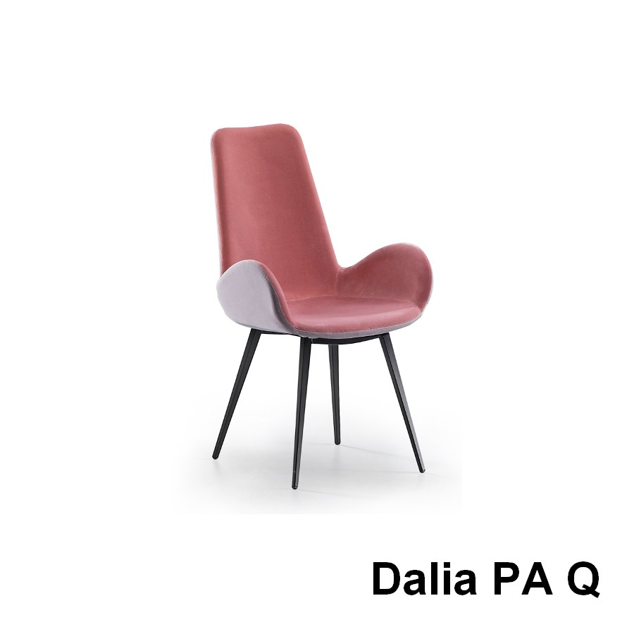 Dahlia 3 Seat Fabric Sofa Midia Dalia Chair With Padded And Upholstered Armrests