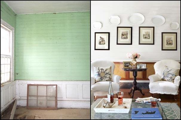 Sala da pranzo dopo e prima il restauro shabby arredamento shabby - Copridivano shabby ikea ...
