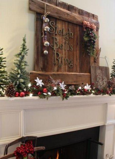 Decorare la casa di campagna per natale con il rustico chic for Arredamento natalizio casa