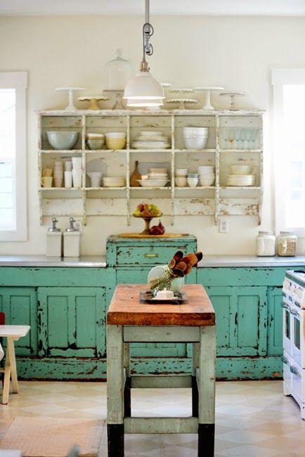 Cucine rustiche in stile shabby chic 30 modelli da sogno foto - Mesa cocina vintage ...