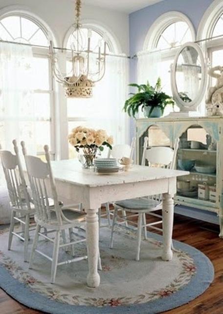 semplici decorazioni per la sala da pranzo shabby
