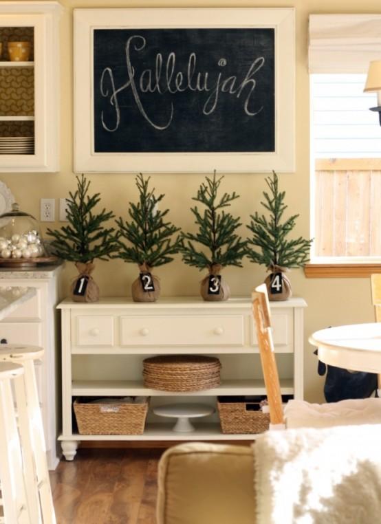 Decorazioni natalizie rustico chic per la cucina shabby - Arredamento ...