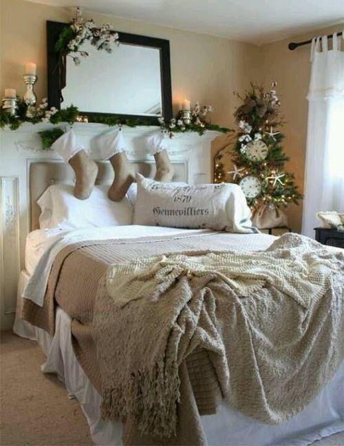 25 idee per decorare le vostre camere da letto a natale - Camera da letto boho chic ...