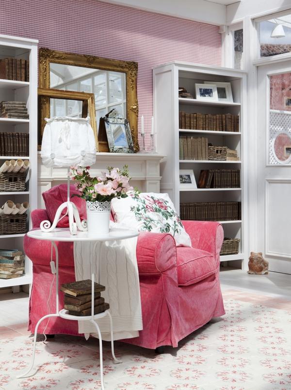 Arredi Ikea in rosa e bianco: ecco la casa da sogno shabby