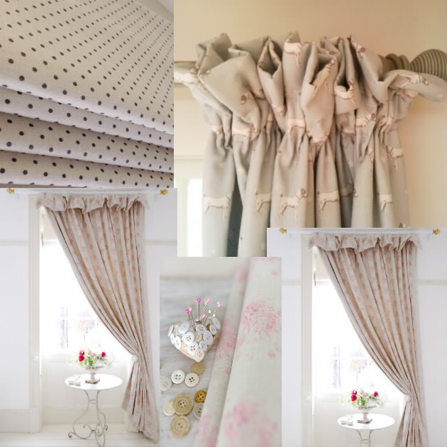 Tende country shabby fai da te design casa creativa e for Tende shabby chic