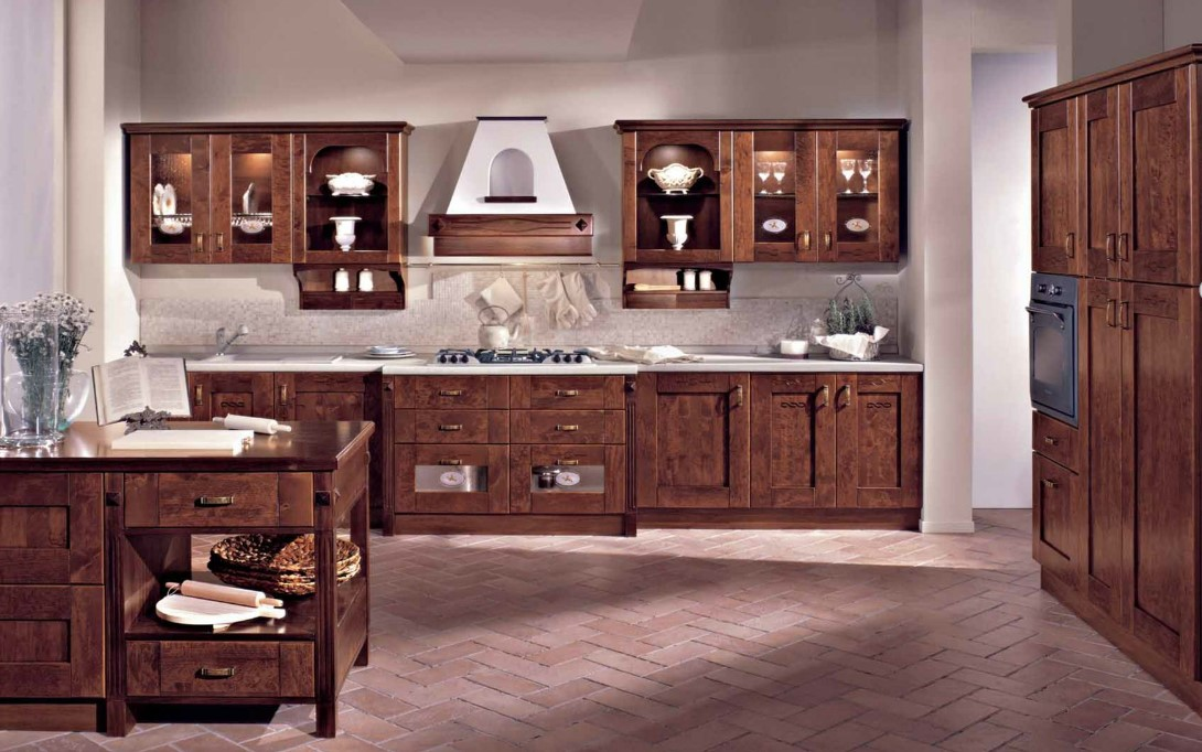 Le cucine rustiche di mondo convenienza e lube for Cucina italiana mobili