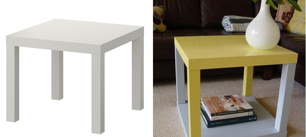 Come trasformare in stile shabby il tavolino lack dell for Comodini bimbi