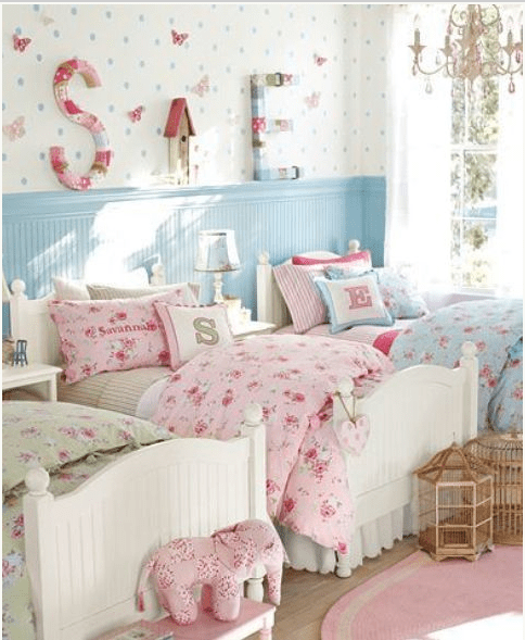 Camerette shabby chic per bambina