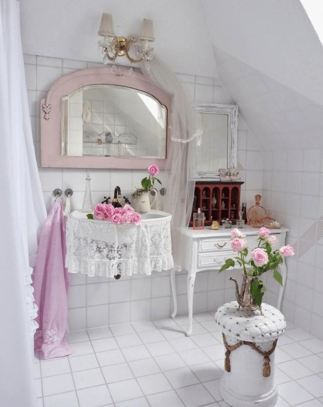 Guarda le immagini dei bagni da sogno in stile shabby - Mobili bagno shabby ...