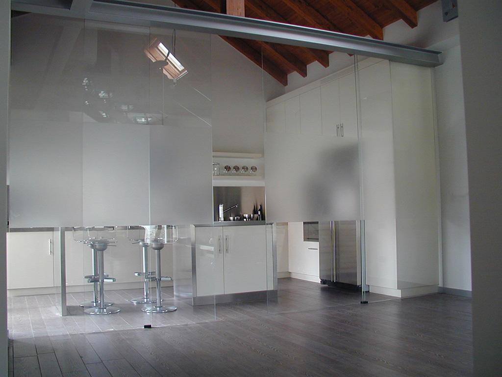 parete divisoria cucina soggiorno. amazing soluzioni divisorie ... - Vetrata Soggiorno Cucina