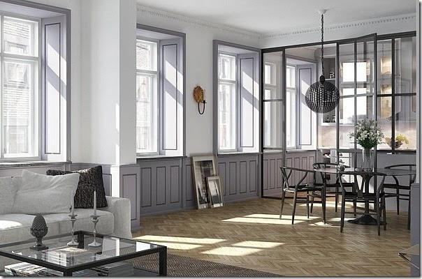 Dividi gli spazi di casa con pareti divisorie in vetro decorato
