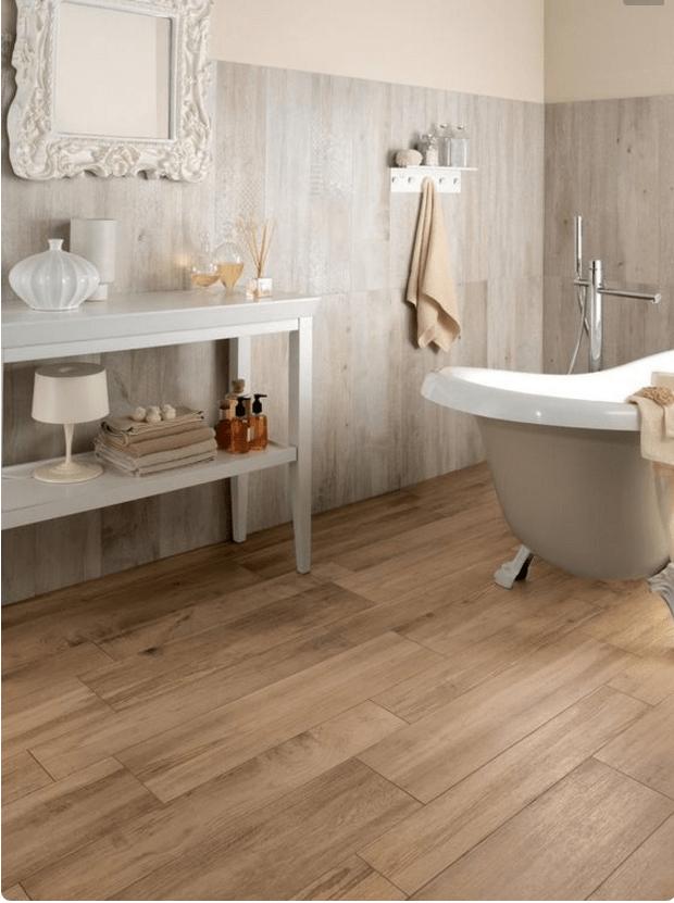 luce ovviamente se opti per le piastrelle in finto legno per il bagno ...