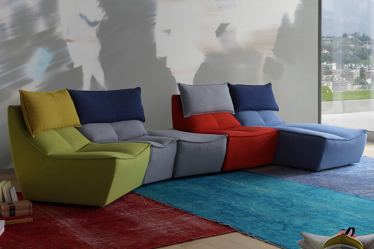 Sessel Multicolor Calia Italia Hip Hop Multicolor Sofas