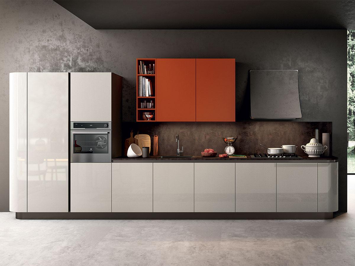 Cucina Lineare Bicolore | Cucina Delizia 363 Cm Five Palermo Ipershop