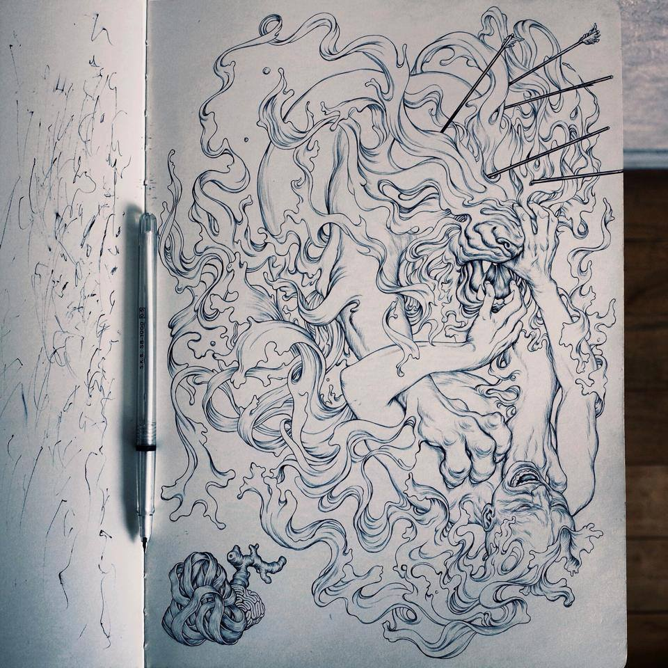 3d Wow Wallpaper Album Covers James Jean X Linkin Park The Hunting