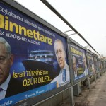 "A billboard on a main street by the Ankara municipality to thank Turkish Prime Minister Recep Tayyip Erdogan reads: "" We are grateful to you "" in Ankara, on March 25, 2013, three days after Israeli Prime Minister Benjamin Netanyahu apologized to Turkey over the death of nine Turkish citizens on board a Gaza-bound flotilla in 2010. AFP PHOTO/ADEM ALTAN / AFP PHOTO / ADEM ALTAN"
