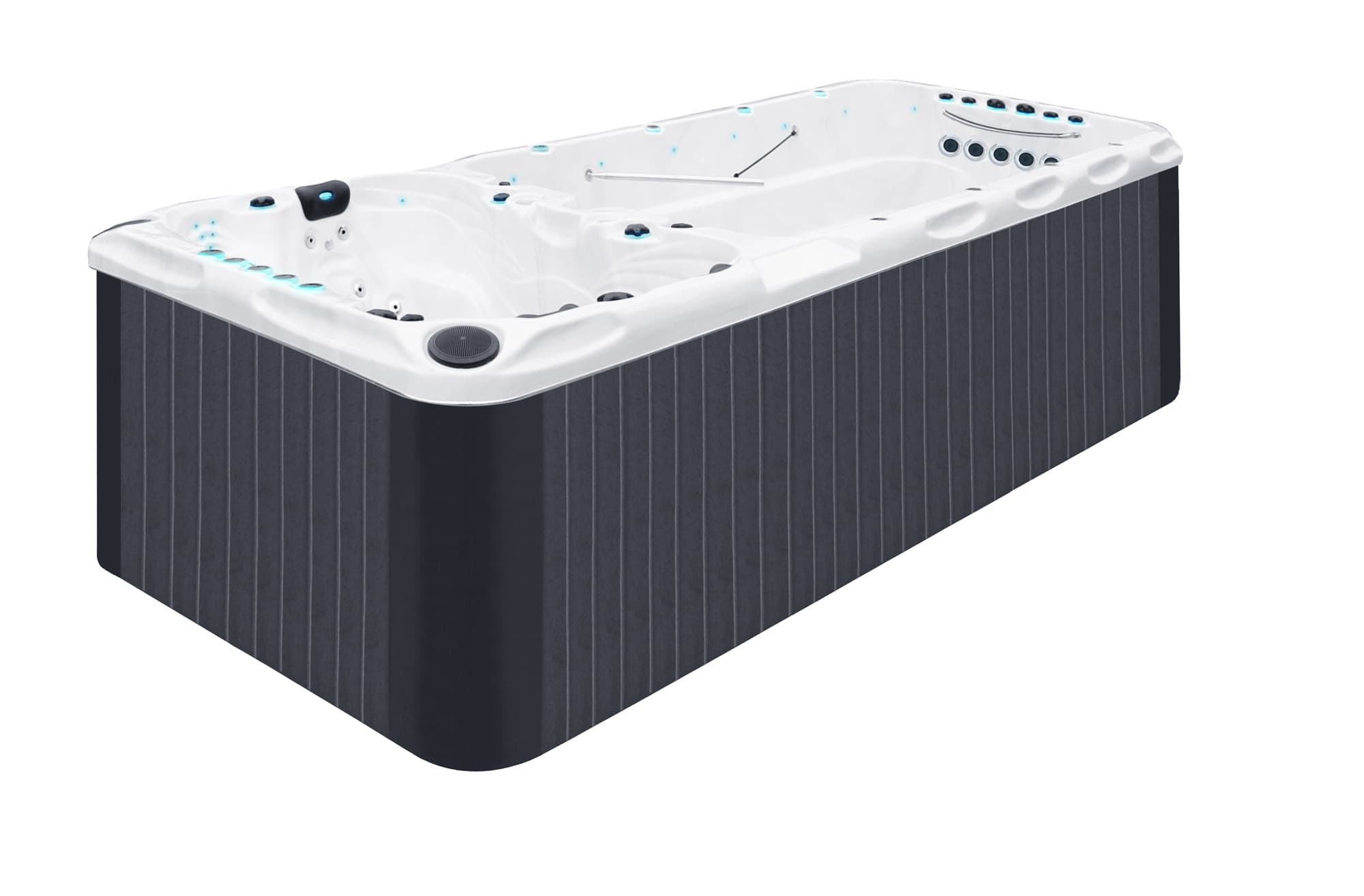 Whirlpool Outdoor Mit Gegenstromanlage Swim Spa Dallas 127cm 2019 Platin Version