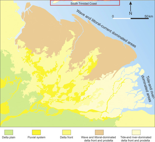 Palaeo-Orinoco (Pliocene) channels on the tide-dominated Morne L