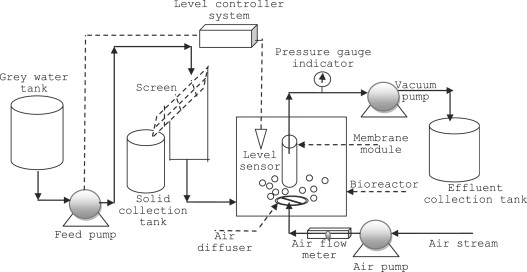 On the performance of real grey water treatment using a submerged