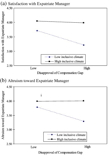 Moderating effects on the compensation gap between locals and