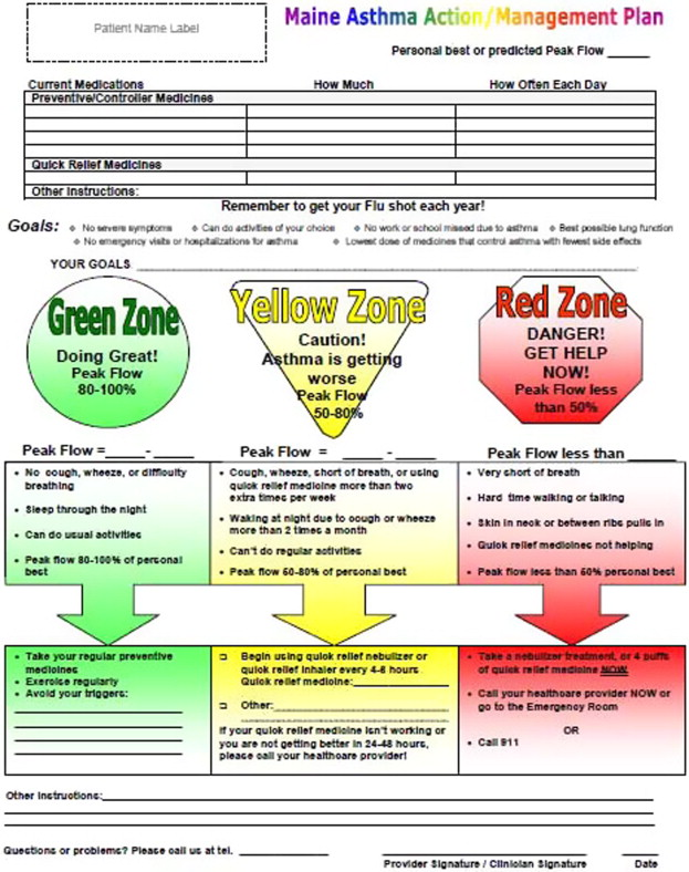 An example of using a decision making framework designed for non - sample asthma action plan