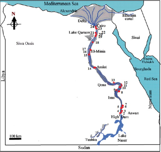 Indices of water quality and metal pollution of Nile River, Egypt
