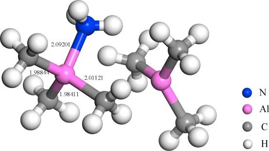Study on the reaction of trimethylaluminum dimer and ammonia based
