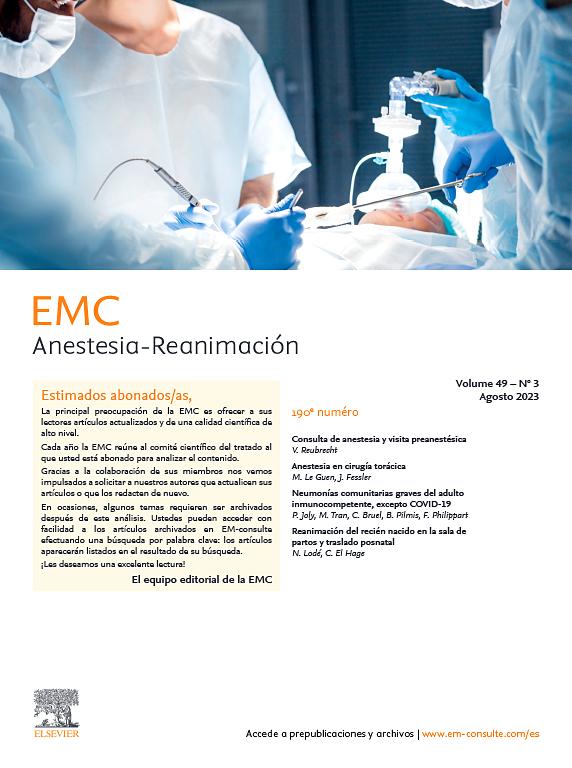 EMC - Anestesia-Reanimación ScienceDirect