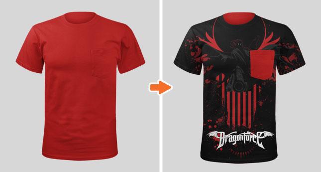 Men\u0027s Pocket T-Shirt Mockup Template Pack