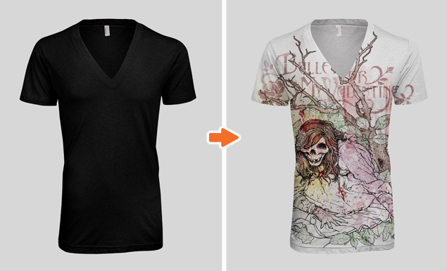 Men\u0027s Deep V-Neck T-Shirt Mockup Templates Pack