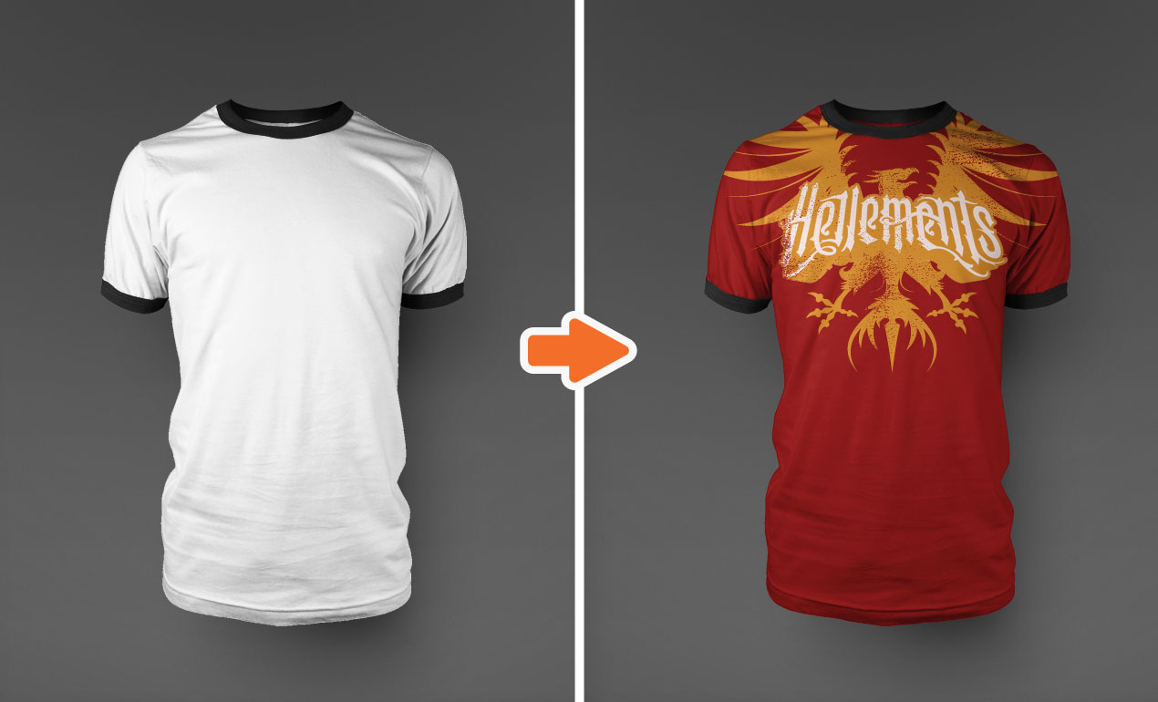 Design t shirt using photoshop - Design T Shirt Using Photoshop Photoshop Ringer T Shirt Mockup Templates Pack Ringer1 Download