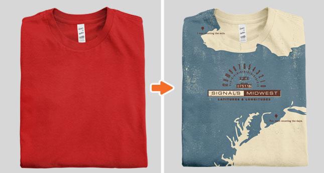 Folded Shirt Mockup Template