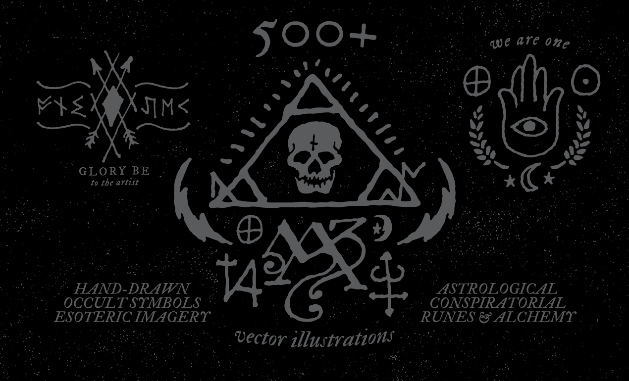 Cosmos Quotes Wallpaper 500 Occult Symbols And Esoteric Designs Vector Collection
