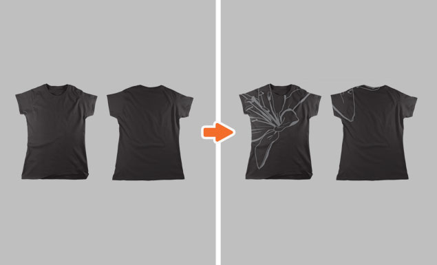 Ladies Flat T-Shirt Mockup Templates Pack