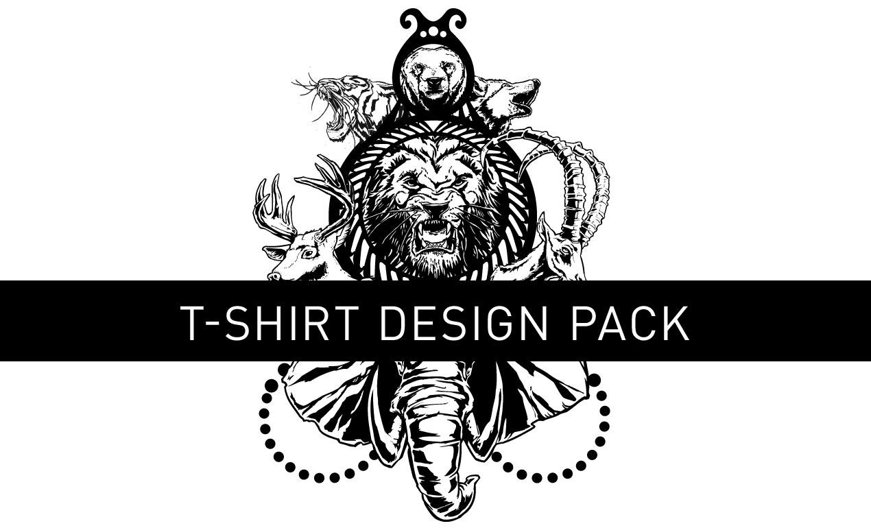 Unleashed vector t shirt design pack