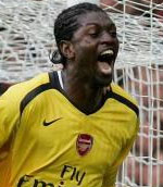 Adebayor capped his fine performance against Manchester United with a late winner