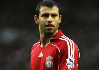 Liverpool's Javier Mascherano will not be able to stop Kaka