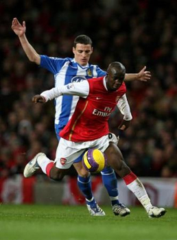 Diarra made sure Flamini and Fabregas were not missed