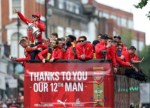 Thousands line the streets of Islington as Arsenal parade the FA Cup