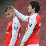 Jack Wilshere and Tomas Rosicky to play for Arsenal Under-21s against Swansea City today