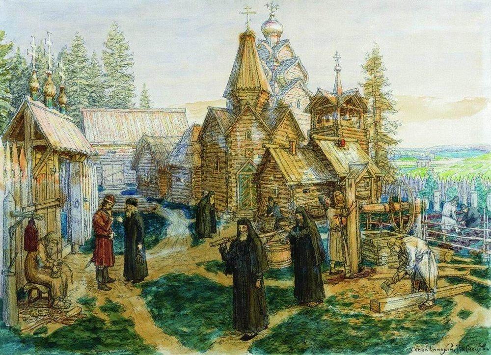 А. М. Васнецов - Святой преподобный Сергий Радонжский