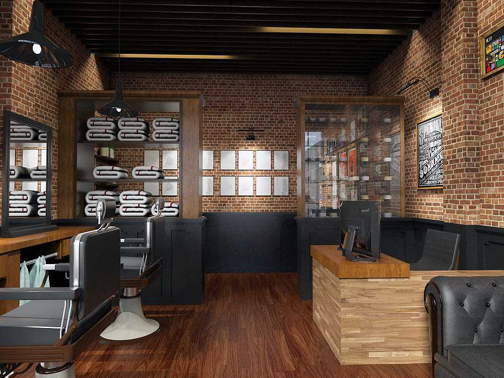 Rak Keramik Photo Barbershop Interior Bostoncap Barber 5 Desain