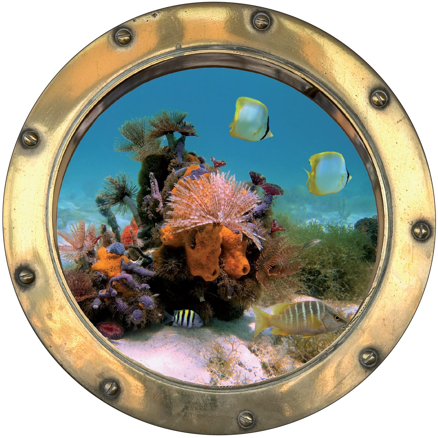 sticker Hublot Fond marin 9