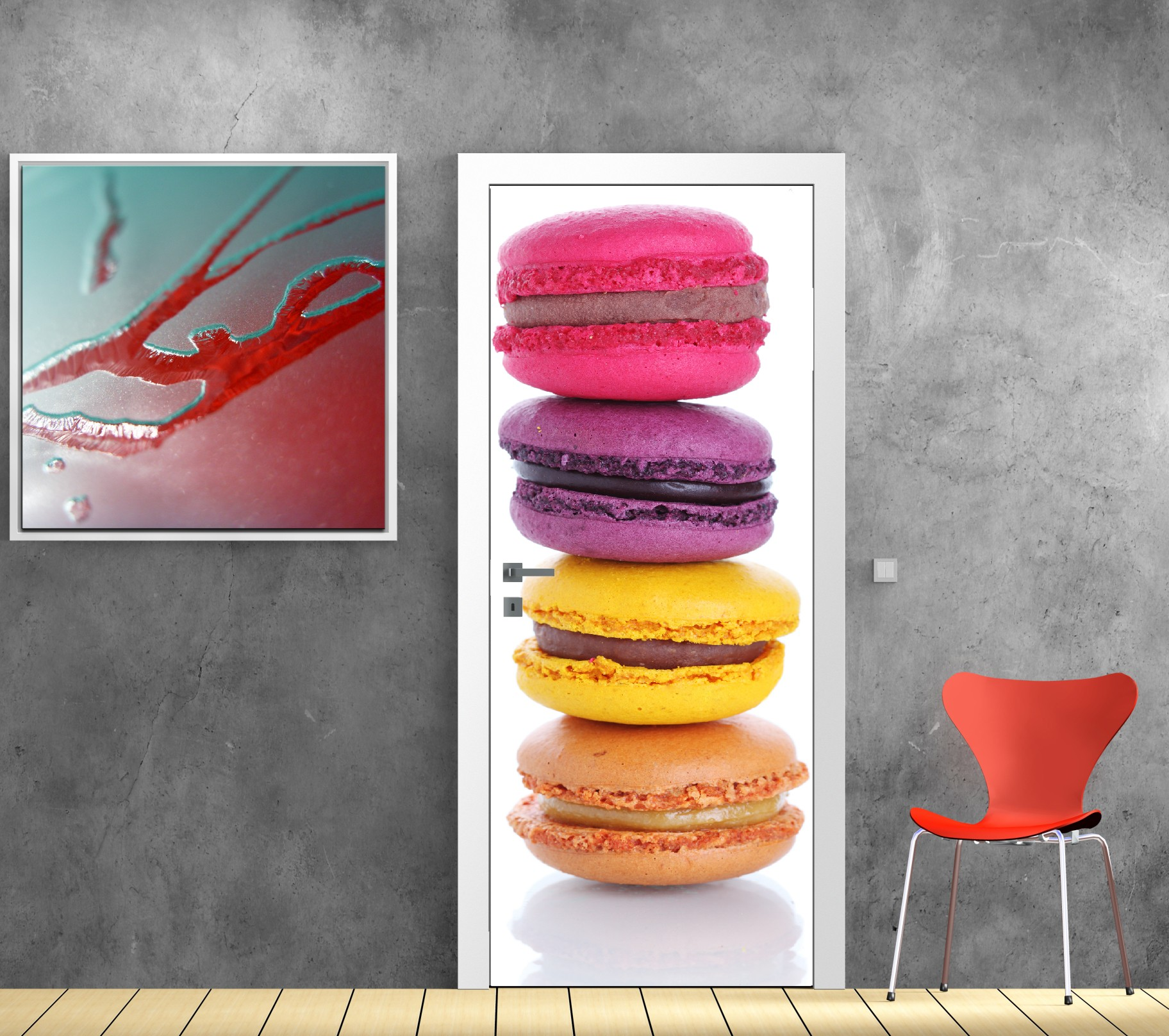 Stickers Decoration Porte Interieur Stickers Porte Déco Cuisine Macaron Stickers Porte Déco Cuisine Macaron