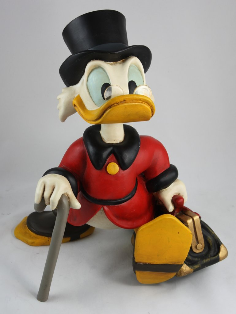 Leuchtmittel Sockel Dagobert Duck - Walt Disney Figur - Top - Art Design Classics