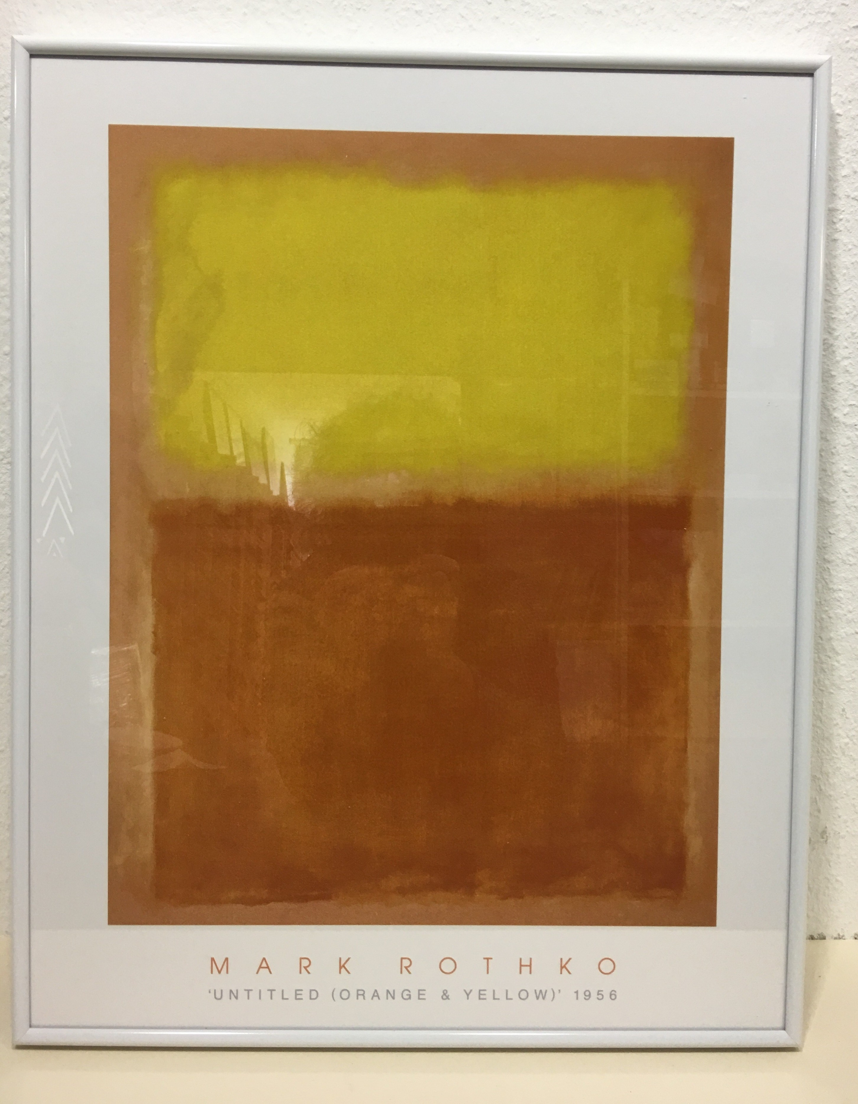 Gerahmte Bilder Wohnzimmer Wandbild Rothko Mark Orange And Yellow 1956