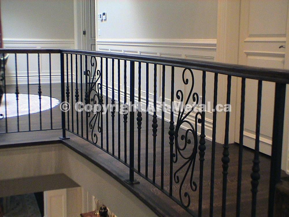 Interior Indoor Stair Iron Railings Handrails Designs