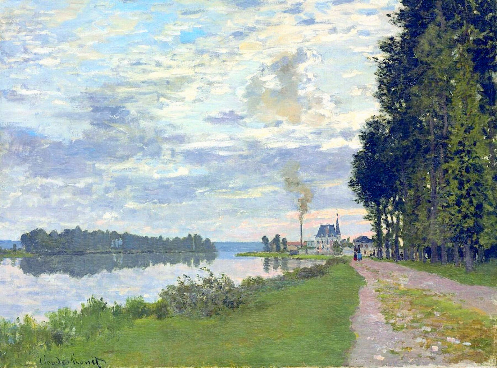Photo Argenteuil Claude Monet The Promenade At Argenteuil 1872 In High Definition