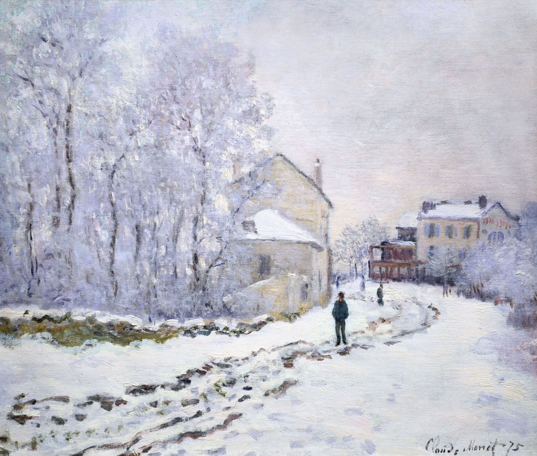 Photo Argenteuil Claude Monet Snow At Argenteuil 1875 From The National Museum Of